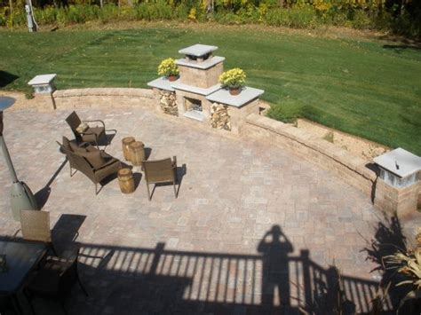 Fireplace Patio Place Paver Patio Fireplace Pillars Paver Patios Allen