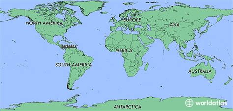 where is barbados on world map where is barbados where is barbados located in the