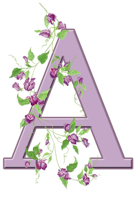 Inisial A letter a floral initial free stock photo domain