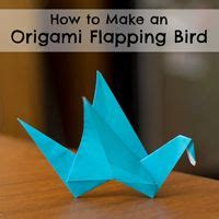 How To Make A Origami Flapping Bird - 25 best ideas about origami flapping bird on