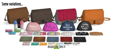 Around the Sims 4   Custom Content Download   Handbag clutter