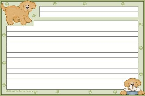 Printable Dog Recipe Cards | 8 best images about vintage recipe printable cards on