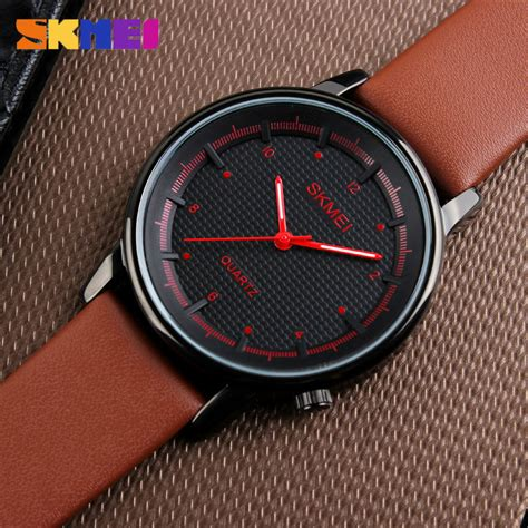 Jam Tangan Pria Sa4124m Black Brown skmei jam tangan analog pria 1210 brown black jakartanotebook