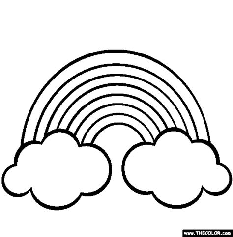 rainbows coloring page free rainbows online colo