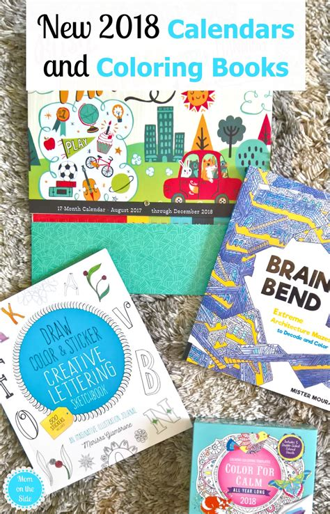 2018 coloring calendar monthly planner books new 2018 calendars and coloring books on the side