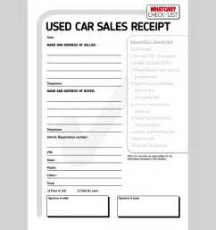 vehicle receipt template sle car sale receipt car sale receipt template