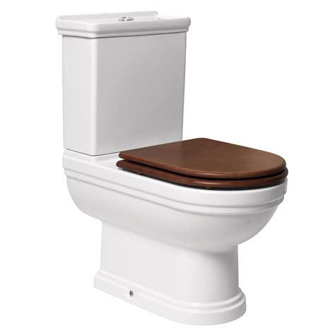 Plumbing Toilet by Mere Aristo Traditional Toilet With Walnut Seat At