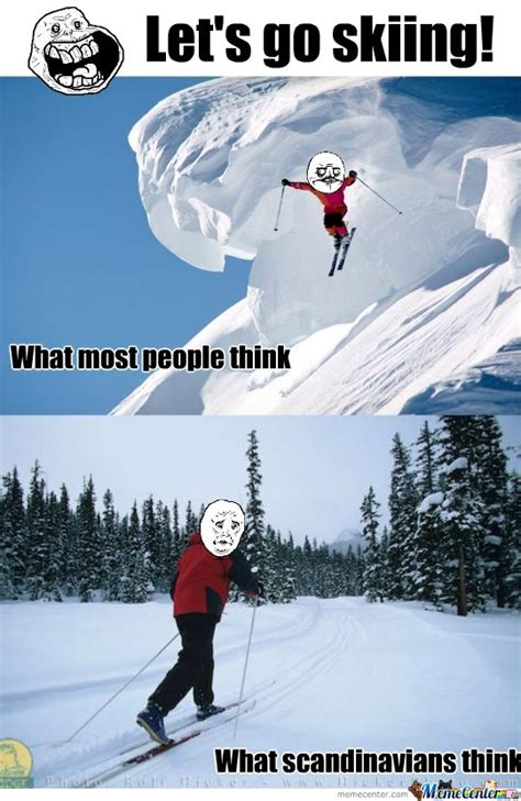 Skiing Memes - skiing by snapple meme center