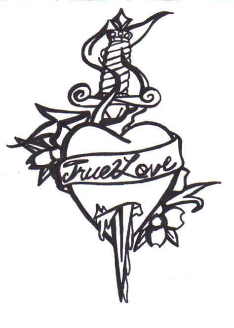 true love tattoo bandw by serenityleigh13 on deviantart