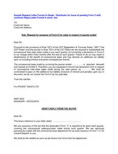 Dealership Letter Dealership Letter Format Sle