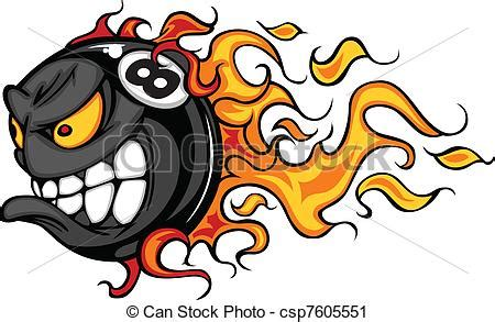 billiards eight ball flaming face flaming eight ball face