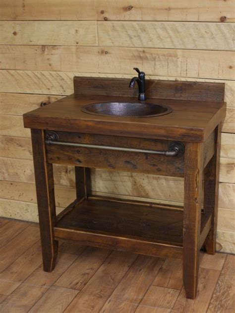 Reclaimed Wood Rustic Bathroom Vanities Cabin Bathroom Vanity
