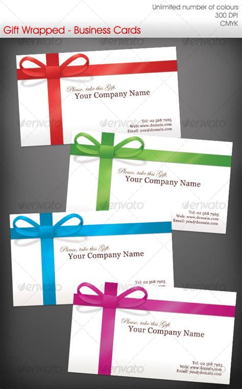 Gift Cards Business - gift wrapped business cards by ravenwill graphicriver