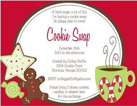cookie invitation template the sweet paperie cookie exchange invitations and