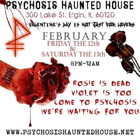 psychosis haunted house hauntedillinois com 2016 valentine s day haunted houses in illinois