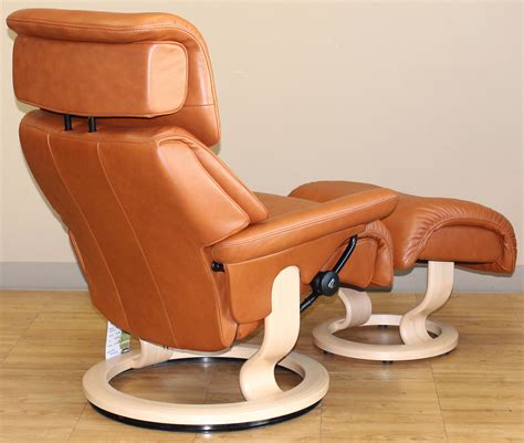 stressless leather chair and ottoman stressless dream royalin tigereye leather by ekornes
