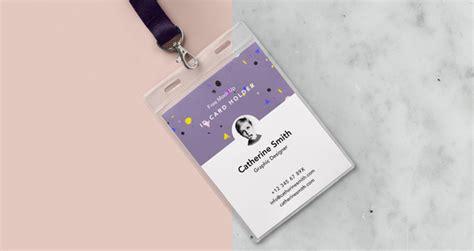 template for a badge card holder psd identity card holder mockup vol2 psd mock up