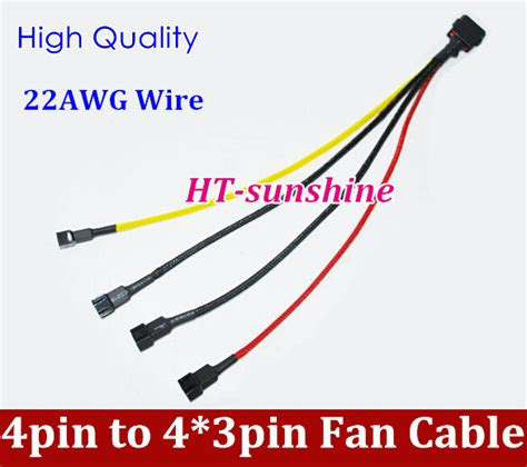 fan 4 pin to 3 pin fan 4 pin to 4 3pin pwm convert connector extension cable