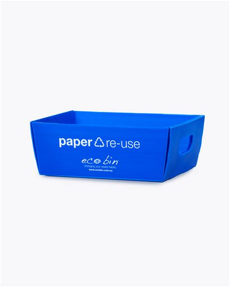 Oh Look Waste Paper Bins In Paper Sizes by Paper Recycling Desktop A4 Re Use Tray Blue Ecobin 7