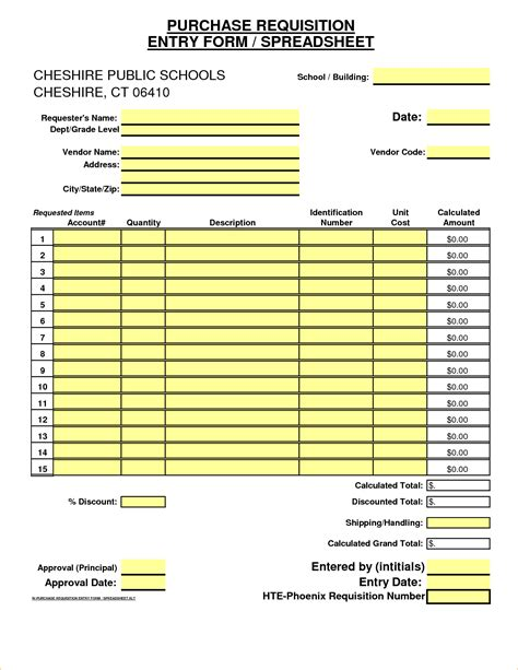 excel purchase requisition template 8 excel form templates timeline template