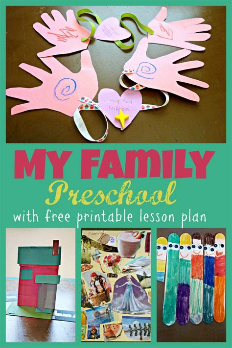 themes kindergarten my family preschool theme week with free printable two day