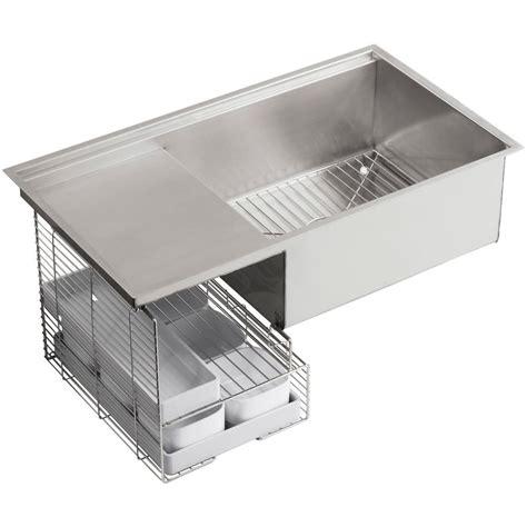 kohler stainless steel sink kohler k 3760 na stages 33 inch stainless steel kitchen