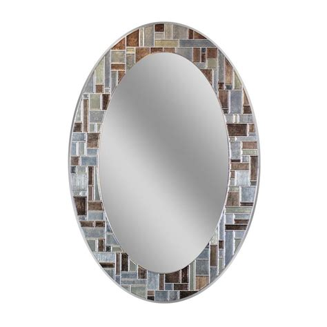 oval bathroom vanity mirrors oval bathroom mirrors bath the home depot