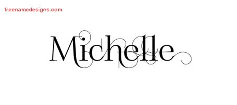 design free name decorated name tattoo designs michelle free free name