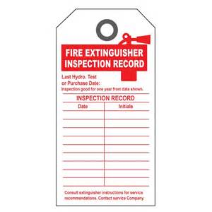 Extinguisher Inspection Tag Template by Receipt Invoice Book