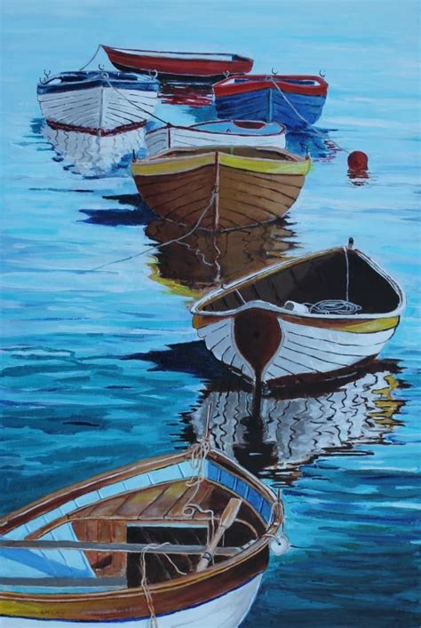 paintings of boats on water best 25 boat painting ideas on pinterest landscape