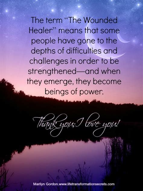 term  wounded healer means   people