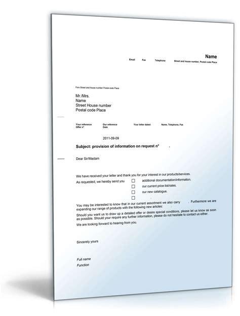 Musterbrief Anfrage Artikel Zus 228 Tzliche Informationen Nach Anfrage Musterbrief