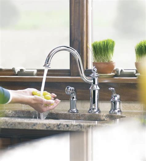 moen showhouse kitchen faucet moen showhouse s711 waterhill single handle kitchen faucet with matching side spray chrome