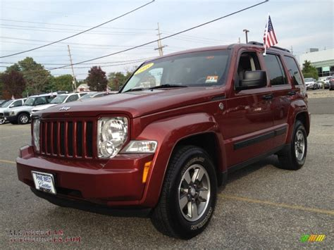 red jeep liberty 2008 2008 jeep liberty sport 4x4 in red rock crystal pearl