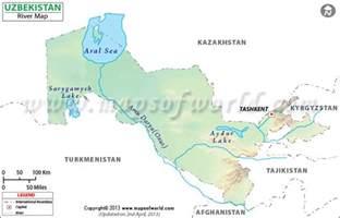 Who Made The Iron Curtain Uzbekistan River Map