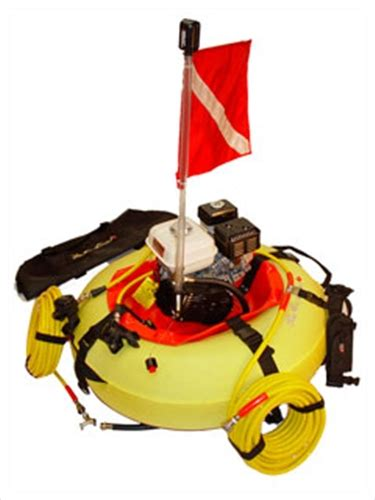 air line floating surface scuba compressor hookah for 2 divers