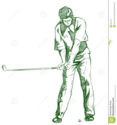 golf swing draw the golf swing pose royalty free stock photography image
