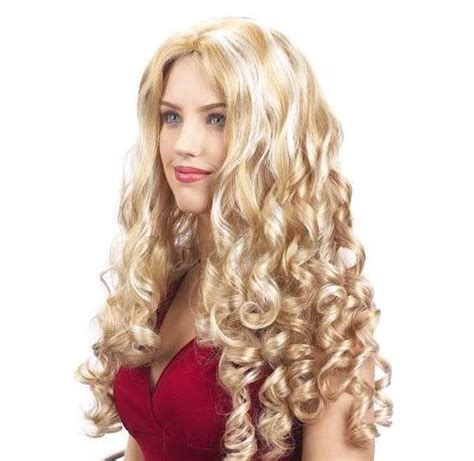redheaded long hairstyle with semi spiral curls spiral curls black hair curly hair wigs sexy blonde long