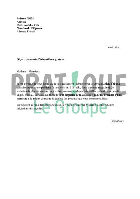 Exemple De Lettre De Demande De Document Gratuit Lettre De Demande D 233 Chantillons Gratuits Pratique Fr