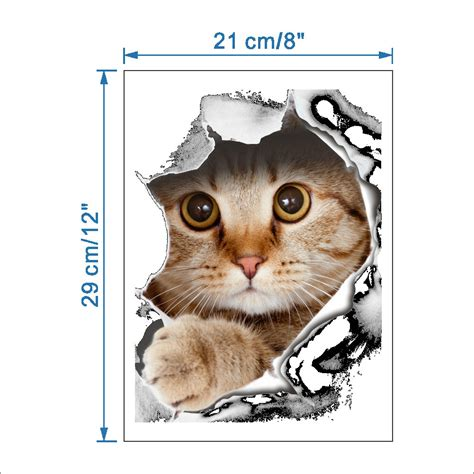 Wallpaper Stiker Dinding 2 sticker wallpaper dinding breakthrough cat black