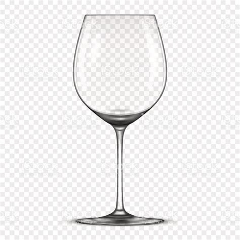 glass svg vector realistic empty wine glass icon isolated on