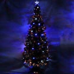 7ft green pre lit multi colour fibre optic christmas tree