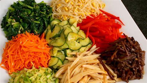 bibimbap mixed rice with vegetables recipe maangchi com