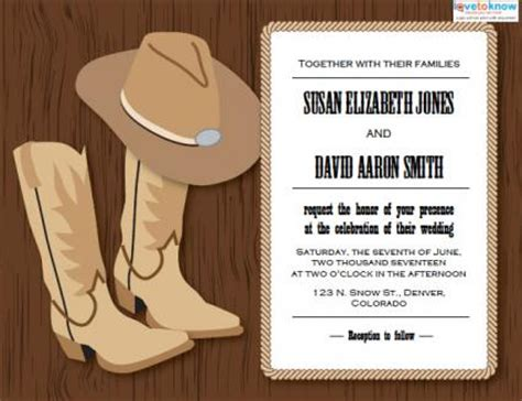 western wedding invitations | lovetoknow