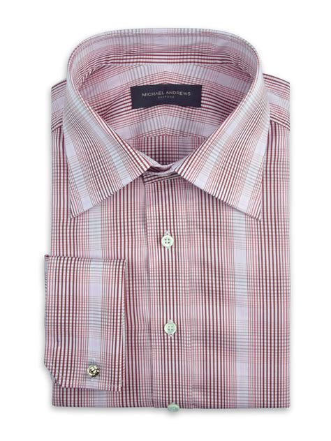 Limited Pink Plaid Shirt pink gradating graphic plaid traditional collar shirt