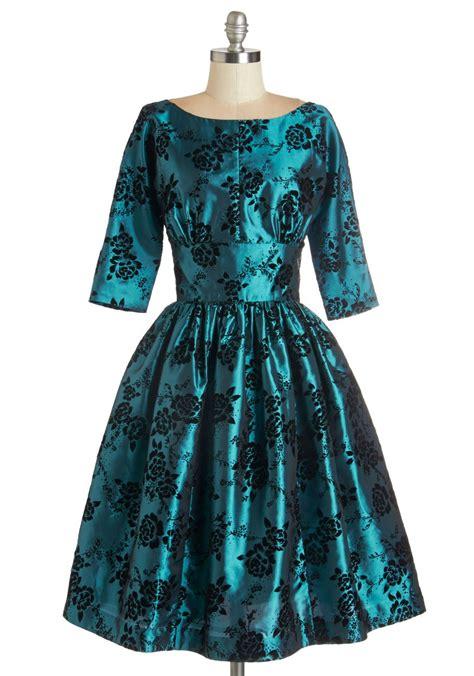 Posh Vintage Wedding Dresses by Posh At The Dress In Teal Mod Retro Vintage