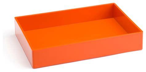 Orange Desk Accessories Accessory Tray Orange Modern Desk Accessories By Poppin