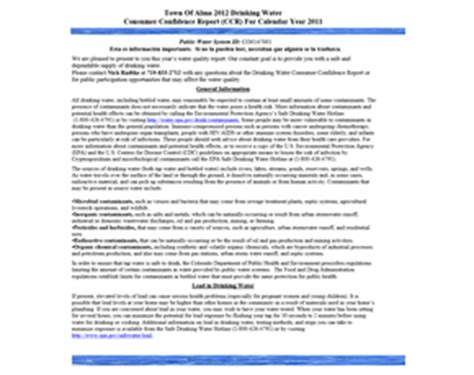 Consumer Confidence Report Template