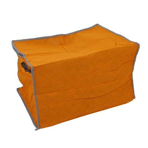 pillow storage orange quilt blanket pillow under bed storage bag box