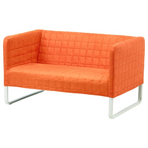 okea sofa knopparp 2 seat sofa orange ikea